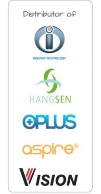 Distributor of genuine Innokin, Hangsen and O-Plus products.